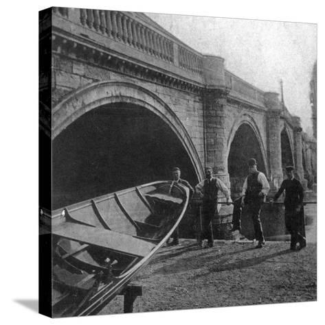 Richmond Bridge, London, Early 20th Century--Stretched Canvas Print