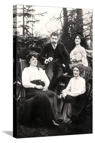 Zena (1887-197) and Phyllis Dare (1890-197), English Actresses, with their Parents, 1906-Foulsham and Banfield-Stretched Canvas Print