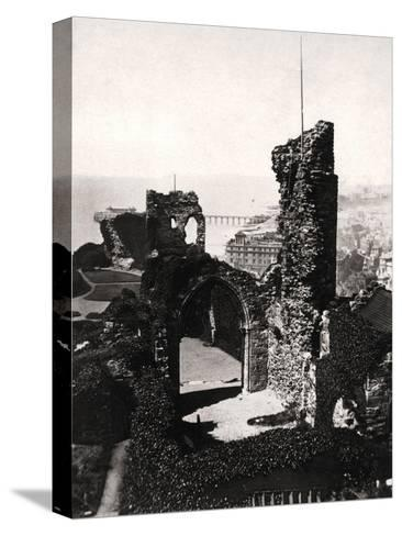 Hastings Castle, Sussex--Stretched Canvas Print