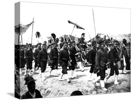 Imperial Japanese Procession, 1900--Stretched Canvas Print
