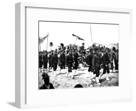 Imperial Japanese Procession, 1900--Framed Art Print