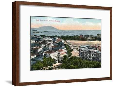 View from the Clock Tower, Bombay, India, Early 20th Century--Framed Art Print