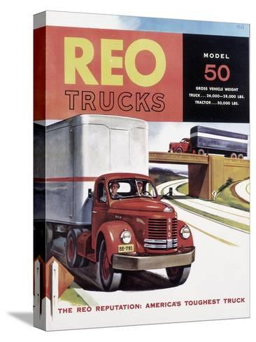 Poster Advertising Reo Trucks, 1958--Stretched Canvas Print