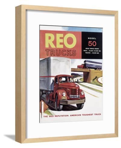 Poster Advertising Reo Trucks, 1958--Framed Art Print