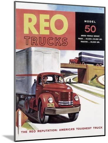 Poster Advertising Reo Trucks, 1958--Mounted Giclee Print