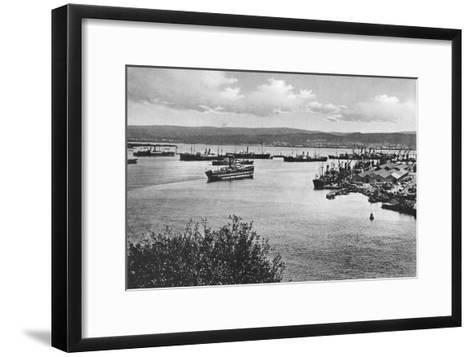 Durban Harbour from the Bluff, South Africa--Framed Art Print