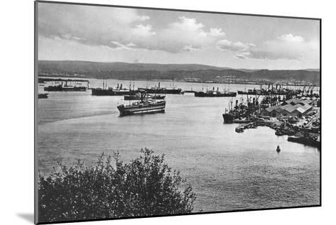 Durban Harbour from the Bluff, South Africa--Mounted Giclee Print