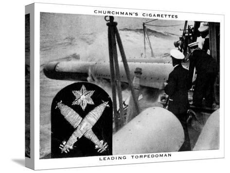 Leading Torpedoman, 1937- WA & AC Churchman-Stretched Canvas Print