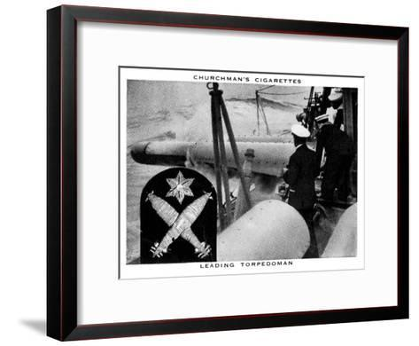 Leading Torpedoman, 1937- WA & AC Churchman-Framed Art Print