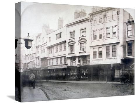 South Side of Aldgate (Stree), Showing Nos 6-9, City of London, 1872--Stretched Canvas Print