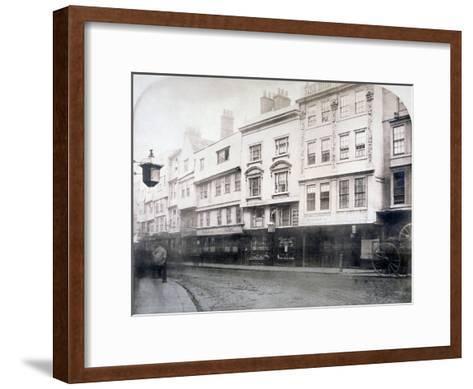 South Side of Aldgate (Stree), Showing Nos 6-9, City of London, 1872--Framed Art Print