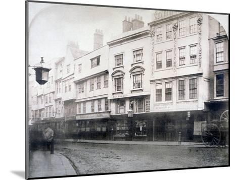 South Side of Aldgate (Stree), Showing Nos 6-9, City of London, 1872--Mounted Giclee Print