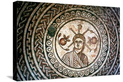 Roundel from a Roman Villa, St Mary, Dorset, 4th Century Ad--Stretched Canvas Print