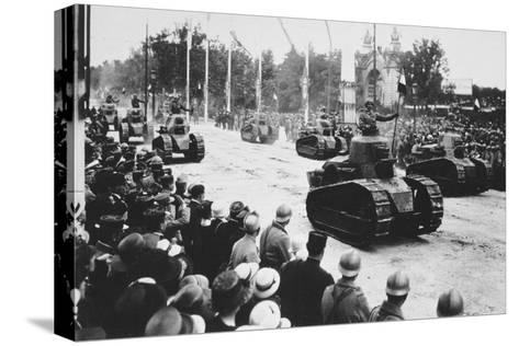 Tanks in the Great Victory Parade, Paris, France, 14 July 1919--Stretched Canvas Print