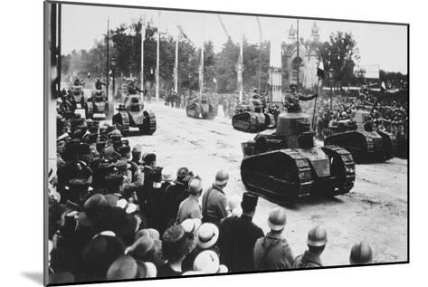 Tanks in the Great Victory Parade, Paris, France, 14 July 1919--Mounted Giclee Print