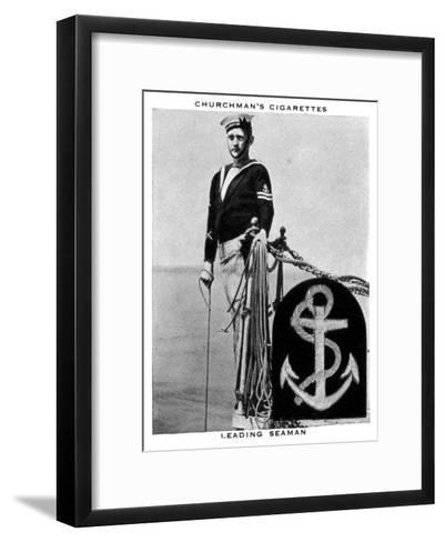 Leading Seaman, 1937- WA & AC Churchman-Framed Art Print