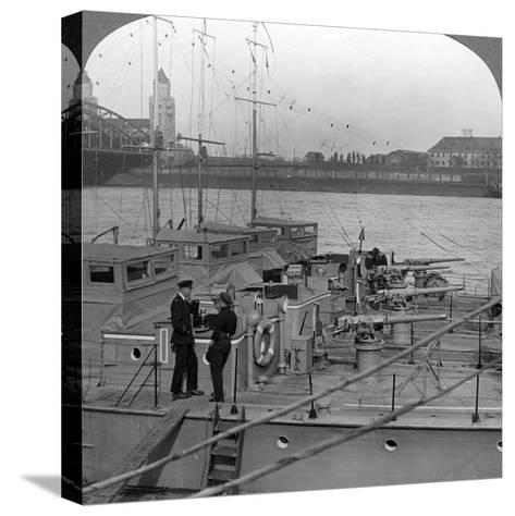 Flotilla of Motor Boats on the Rhine, C1918-1919--Stretched Canvas Print