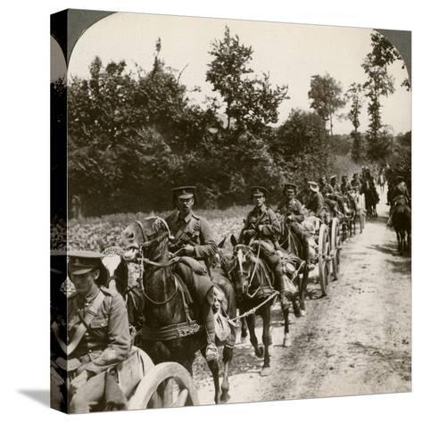 Bringing Up Reserve Ammunition, World War I, 1914-1918--Stretched Canvas Print