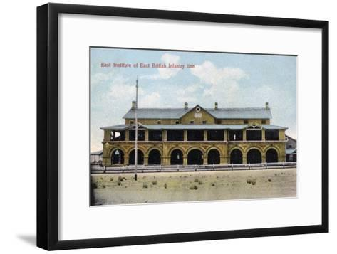 East Institute of East British Infantry Line, India, Early 20th Century--Framed Art Print