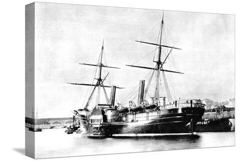 American Transatlantic Steamship, Arago, 1856--Stretched Canvas Print