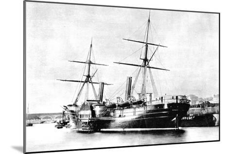 American Transatlantic Steamship, Arago, 1856--Mounted Giclee Print