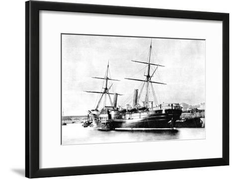 American Transatlantic Steamship, Arago, 1856--Framed Art Print