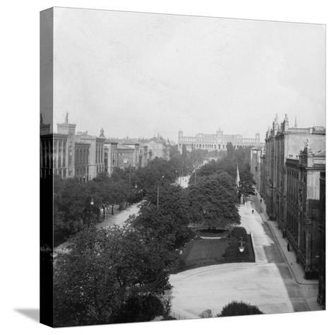 Maximilianstrasse, Munich, Germany, C1900s-Wurthle & Sons-Stretched Canvas Print