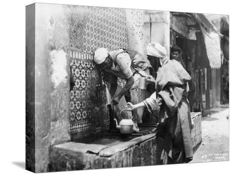 People Collecting Water from a Well, Rabat, Morocco, C1920S-C1930S--Stretched Canvas Print