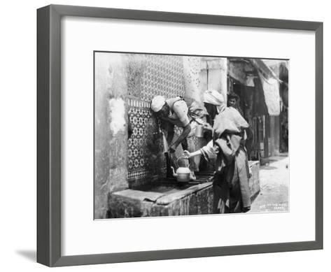 People Collecting Water from a Well, Rabat, Morocco, C1920S-C1930S--Framed Art Print