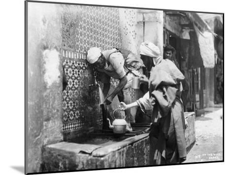 People Collecting Water from a Well, Rabat, Morocco, C1920S-C1930S--Mounted Giclee Print