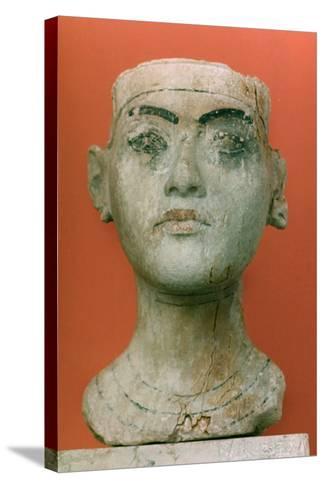 Head of a King, Tutankhamen, Egyptian--Stretched Canvas Print