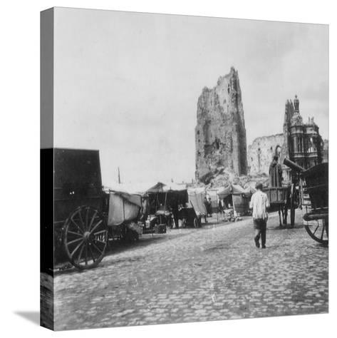The Hotel De Ville, Arras, France, World War I, C1914-C1918- Nightingale & Co-Stretched Canvas Print
