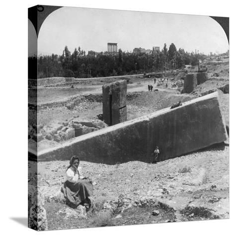 The Ruins of Baalbek (Balabak), Syria, 1900-Underwood & Underwood-Stretched Canvas Print