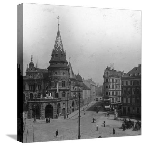 Löwenbräu Keller and Stiglmaierplatz, Munich, Germany, C1900s-Wurthle & Sons-Stretched Canvas Print