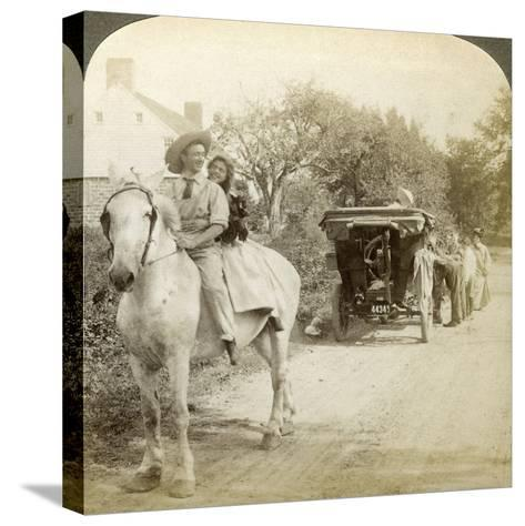 The Old Time Sparking Plug Is the Best after All-Underwood & Underwood-Stretched Canvas Print