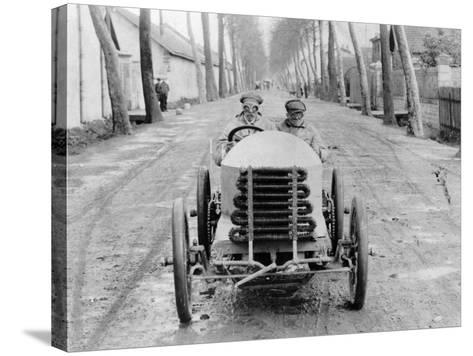 Lorraine Barrow at the Wheel of a De Dietrich, Paris to Madrid Race, 1903--Stretched Canvas Print