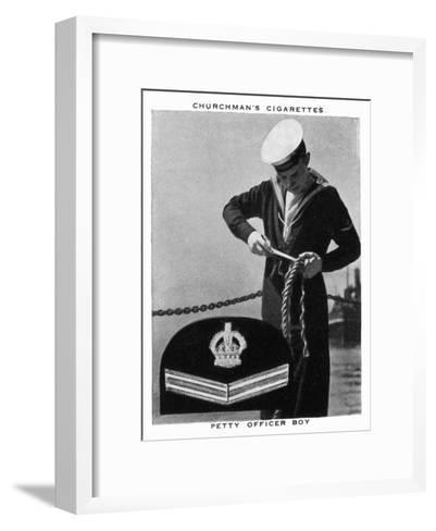Petty Officer Boy, 1937- WA & AC Churchman-Framed Art Print