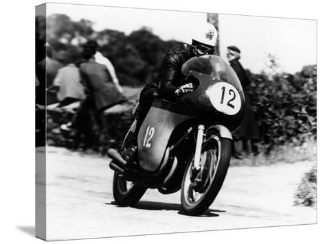 John Hartle Winning the Isle of Man Junior Tt, on an Mv Agusta, 1960--Stretched Canvas Print