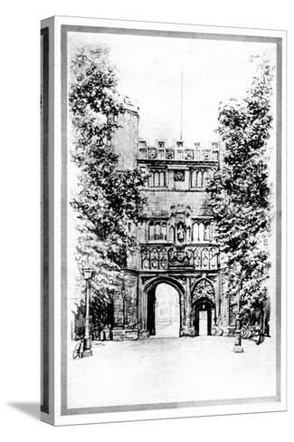 Trinity College, Cambridge, Early 20th Century--Stretched Canvas Print