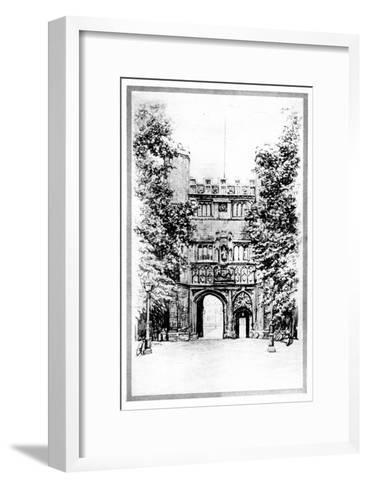 Trinity College, Cambridge, Early 20th Century--Framed Art Print