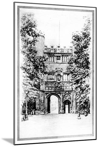 Trinity College, Cambridge, Early 20th Century--Mounted Giclee Print