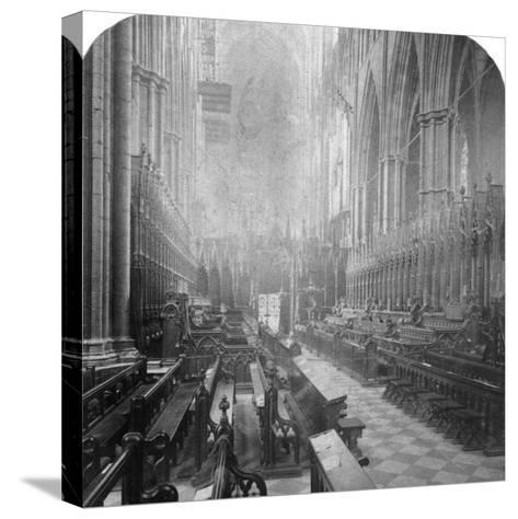Interior of Westminster Abbey, London, Late 19th Century-Underwood & Underwood-Stretched Canvas Print