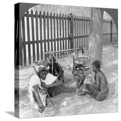 Breakfast by the Roadside Near Mandalay, Burma, 1908--Stretched Canvas Print