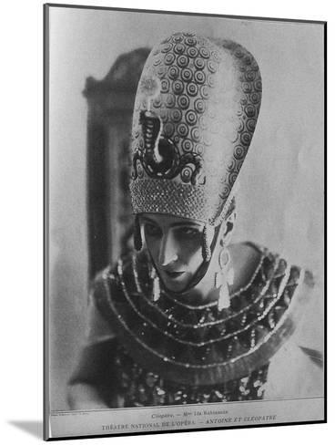 Ida Rubinstein as Cleopatra in the Ballet Antoine Et Cléopâtre, C. 1920--Mounted Giclee Print
