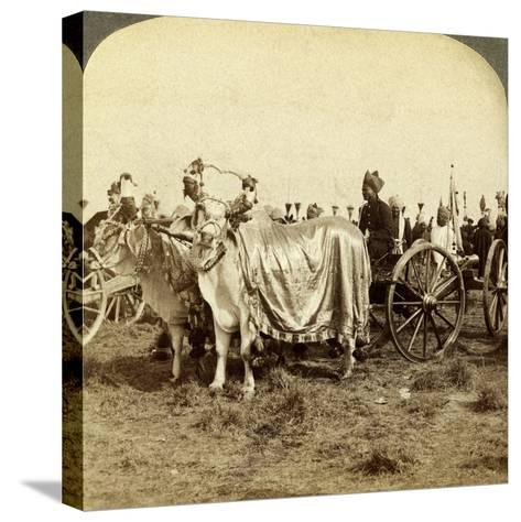 Silver Cannon of the Maharaja of Baroda, Delhi, India-Underwood & Underwood-Stretched Canvas Print