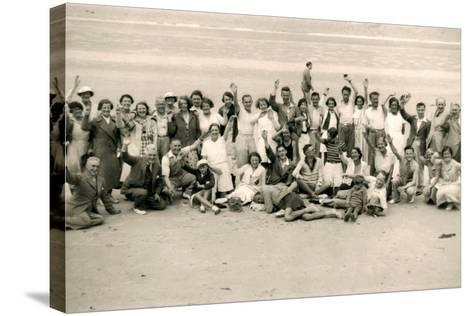 Sports Day for the Gloucester Hotel Party on La Publente Beach, Jersey, 1938--Stretched Canvas Print