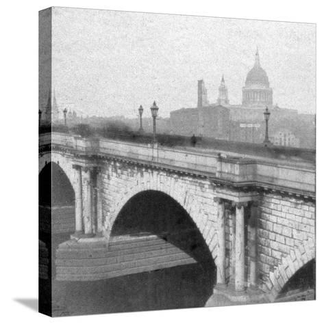 St Paul's Cathedral, London, Late 19th Century--Stretched Canvas Print