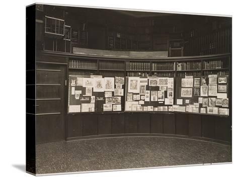 The Mnemosyne Atlas at the Reading Room of the Kunstwissenschaftliche Bibliothek Warburg, 1927-Aby Warburg-Stretched Canvas Print