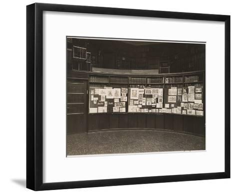 The Mnemosyne Atlas at the Reading Room of the Kunstwissenschaftliche Bibliothek Warburg, 1927-Aby Warburg-Framed Art Print