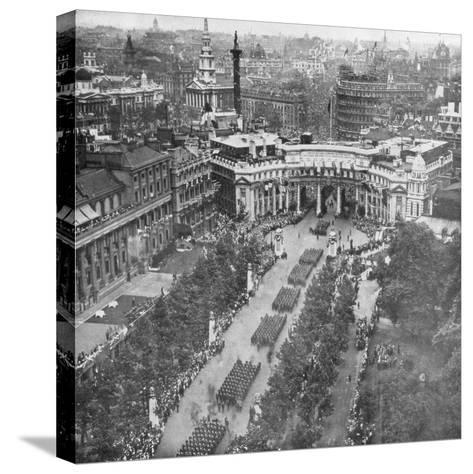 Victory Parade Passing Through the Admiralty Arch and Down the Mall, 19th July, 1919--Stretched Canvas Print